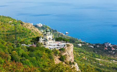 Church of Christs Resurrection over the settlement of Foros, Crimea,