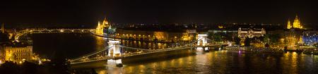Budapest - Hungarian parliament and chain bridge.