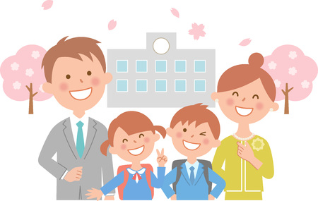 Cherry upper and matriculation school Illustration
