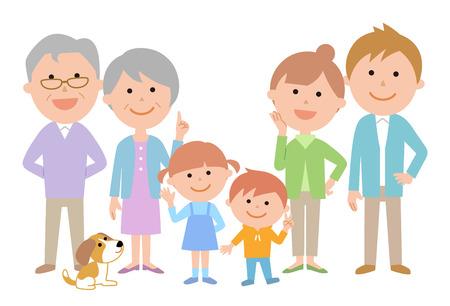 Six Family Front Set Ilustração