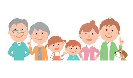 Family Of Six, Upper Body Vivid