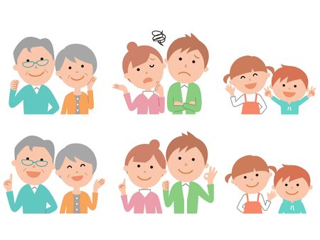 Expressions of the family of six 2