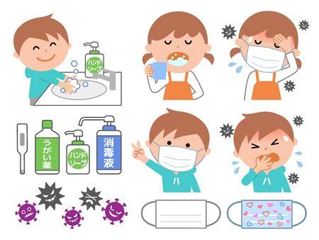 Children preventing coronavirus and flu