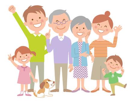 Happy Family of Six, Pet whole body