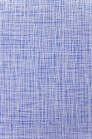closely: thin white strips closely spaced on a bright blue background. Texture, background Stock Photo