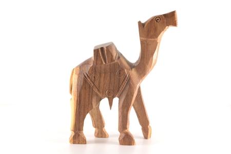 wood figurine: wooden camel Stock Photo