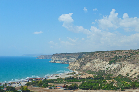 vicinity: the beach in the vicinity of the ancient city - state of Kourion in Cyprus Stock Photo