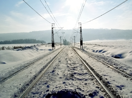 traction: railways in the countryside Stock Photo