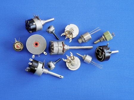 parameters: Passive electronic components and their structures are different elements for adjustment and control of electrical parameters. Stock Photo