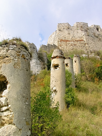 fortification: Slovakia Spissky Castle-Historical extensive fortification as a defensive structure palisades.