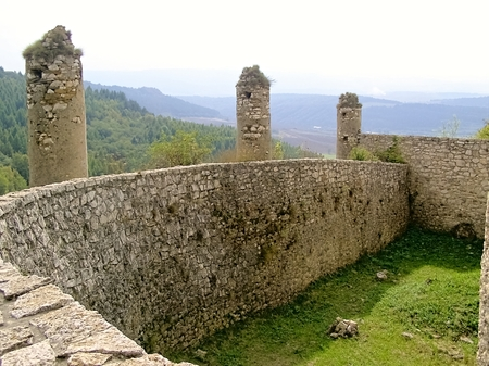 extensive: Slovakia Spissky Castle-Historical extensive fortification as a defensive structure. Stock Photo