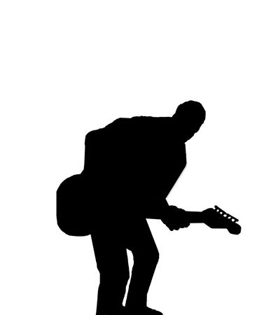 Silhouette of guitarist Stock Photo - 4021162