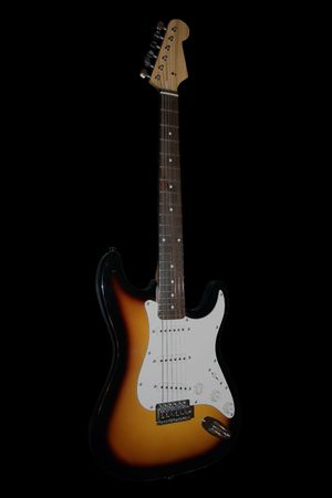 Guitar isolated on black background Stock Photo - 4028833