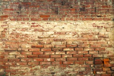 Red old wall of bricks
