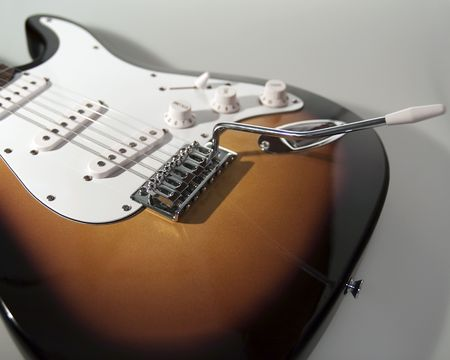 Black and white close up of neck of guitar Stock Photo - 5229710
