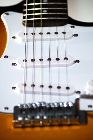 Close up of an electric guitar Stock Photo - 5229709