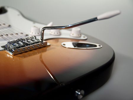 Black and white close up of neck of guitar Stock Photo - 5229711