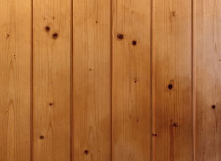 wall of slats of sprucewood or whitewood