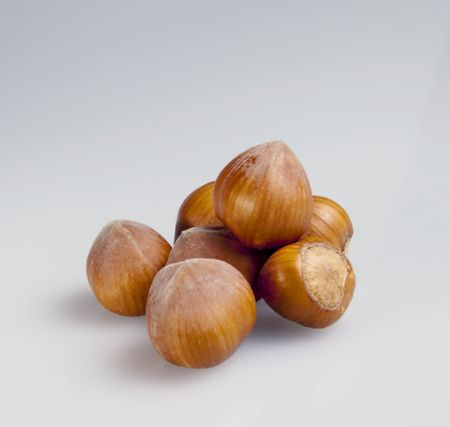 Isolated nuts on a white background Stock Photo