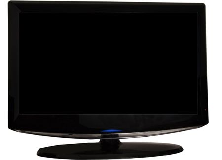 View of a black last generation tv screen