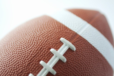 football referee: Closeup of a ball for american football