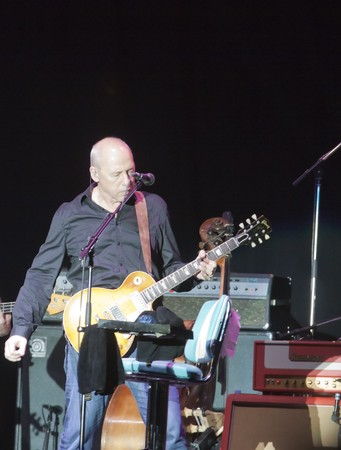 dire: MILANO, ITALY - JULY 14: Singer and guitarist Mark Knopfler on stage of his own concert for Milano Jazzin Festival, on July 13, 2010 at Arena civica of Milan, Italy Editorial