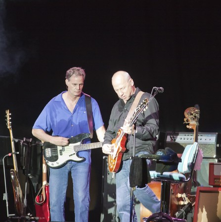 MILANO, ITALY - JULY 14: Singer and guitarist Mark Knopfler on stage of his own concert for Milano Jazzin Festival, on July 13, 2010 at Arena civica of Milan, Italy