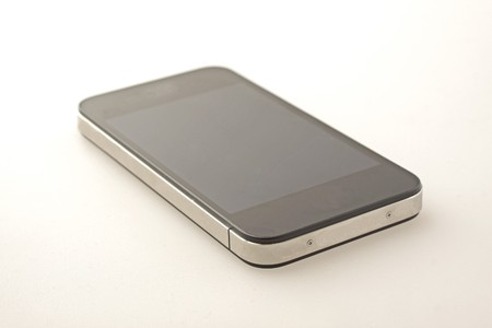 Last generation black and metal smart phone Stock Photo - 7691379