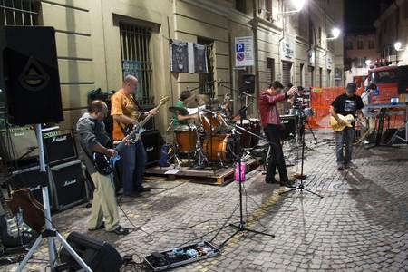 CASALE MONFERRATO, ITALY - SEPTEMBER 11: Cover band