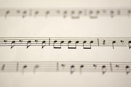 musical score: Close up of a single lane of a musical score