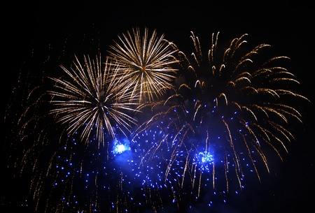 Fireworks exploding over a completely black background Stock Photo - 8473976