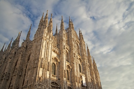 View of Duomo of Milano, one of the most important monuments of christianity photo