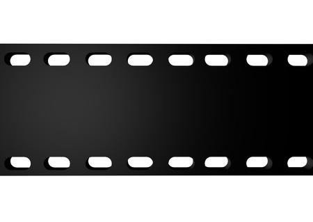 3D render of black film movie over white background Stock Photo - 8721185