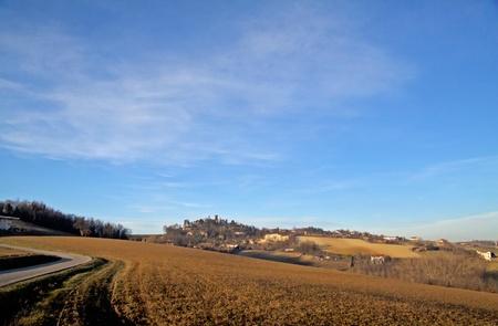 Landscape of a hill under a blue sky Stock Photo - 8773132