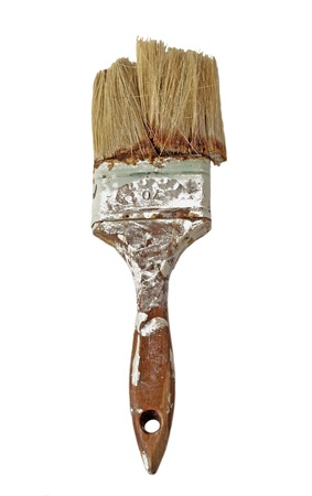 Close up of dirty, old and broken brush  photo