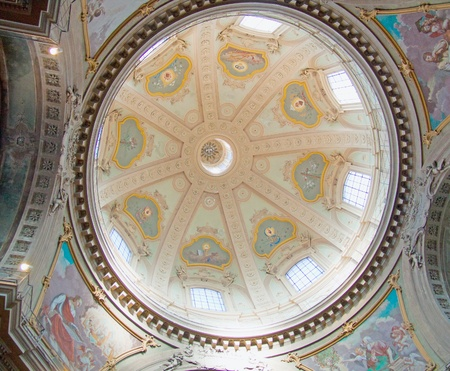 View of a wonderful round church dome