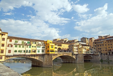 Beautiful view of Ponte Vecchio, at Florence, Italy