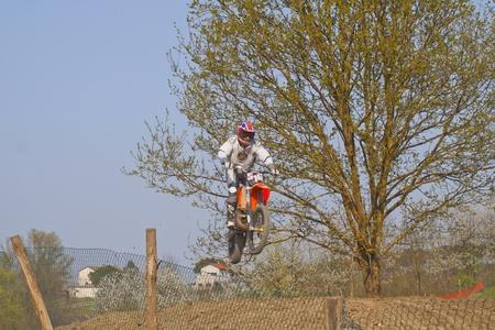 CASALE MONFERRATO, ITALY - APRIL 2: Motocross Race