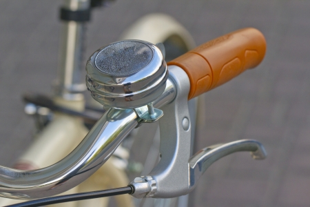 Close up of a bell for bicycle photo