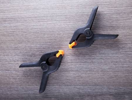 Two black and orange pluers fronting each other Stock Photo - 17123135