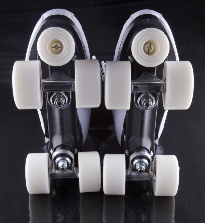 Pair of roller skates seen from below Stock Photo - 17292072
