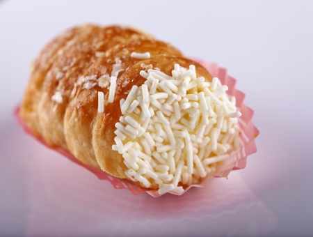 Close up of pastry over a white background Stock Photo - 17415724