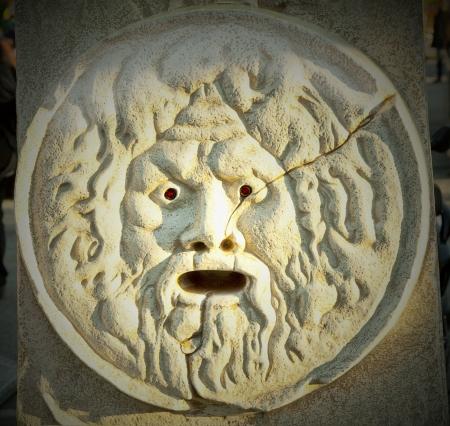 truth: Bocca della verità, truth mouth, reproduction of the orignal monument