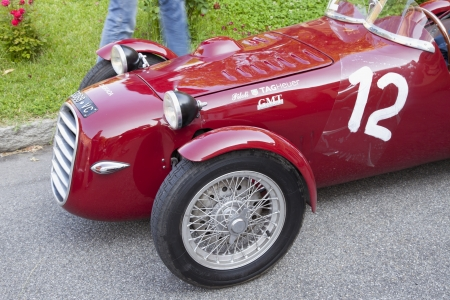 CASALE MONFERRATO, ITALY - JUNE 8: 1954 Dagrada Sport 750 driven by PISSAVINI Piergiorgio and GAVIO Marcello  before the start of race Memorial Bordino, 2013 June 7, Casale Monferrato, Italy