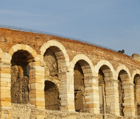View of high part of famous Arena of Verona