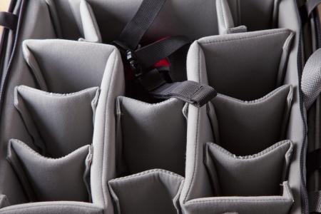 Abteile: Ansicht von vielen F�chern in einer Tasche Lizenzfreie Bilder