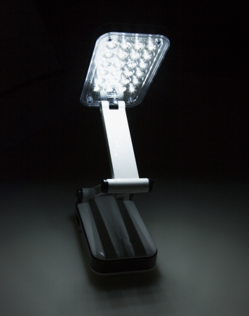 Flexible led Light, lit in the darkness photo