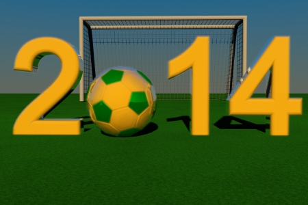 2014 with football in yellow photo
