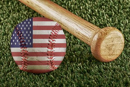 hawaii flag: Baseball with Hawaii flag and bat