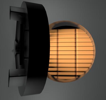 strongbox: Gold ingots in metallic strongbox, 3d render Stock Photo